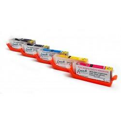 Kartridże z Tuszem jadalnym Zestaw CLI 571 570 CYMB